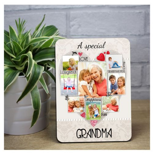 Personalised Special Grandma Word Picture Art Wood Photo Frame Panel F48 Mothers Day Birthday Gift